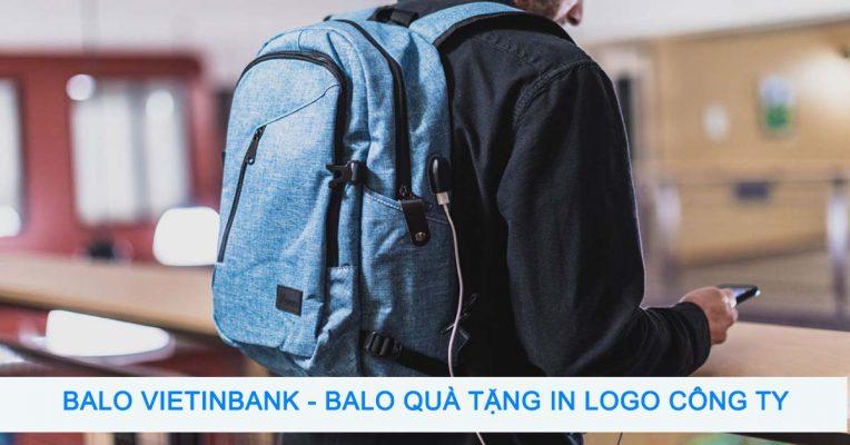 Balo Vietinbank - Balo quà tặng in logo công ty